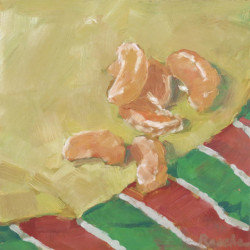 satsuma-and-stripes  still life oil painting thumbnail