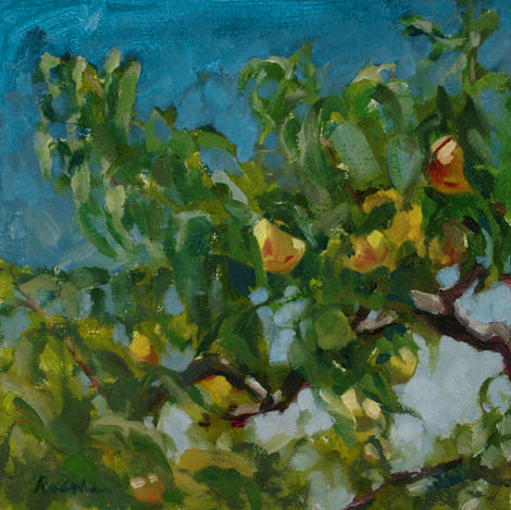 Peach-Tree landscape painting