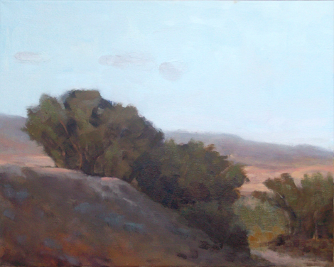 Peach Sunned Hillside / 16x20 in / oil on canvas / $500 * Purchase