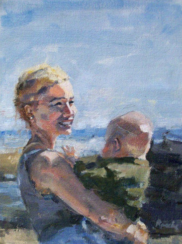 oil-portrait-painting-mom-baby