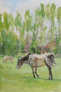 horse portrait paintings, by rasche