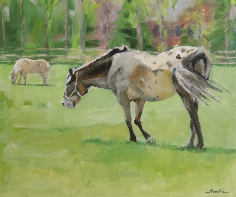 horse paintings, by rasche