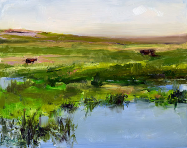 cow painting, by rasche