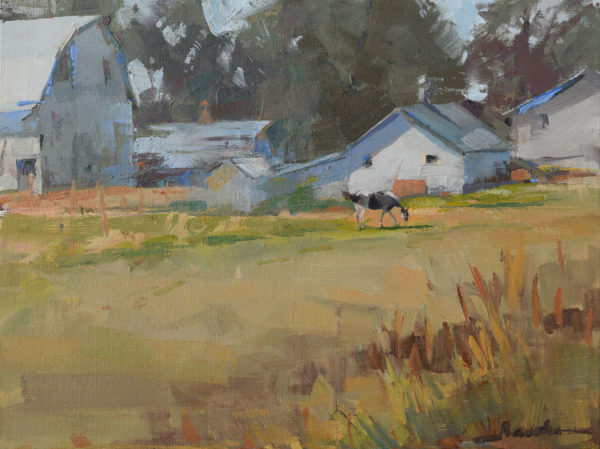 horse and farm painting