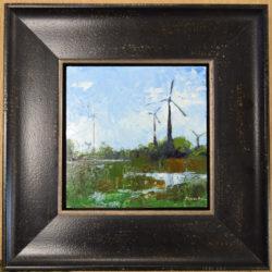 windmills-reflection-framed